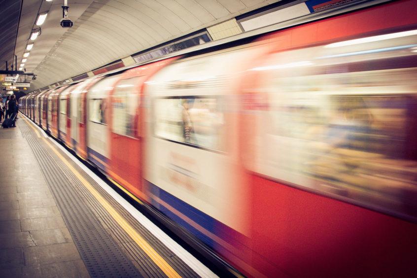 A Train leaving the platform