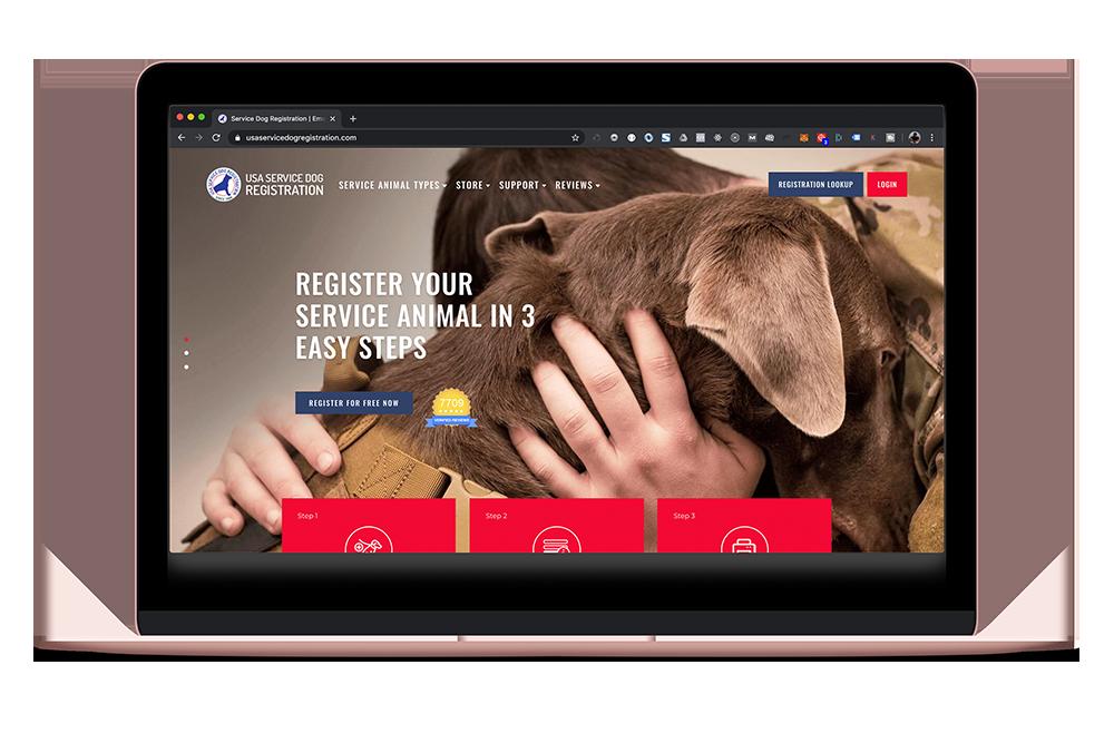 USA Service Dog Registration WordPress and Shopify Development in San Diego